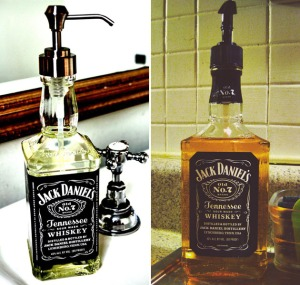 Recycled-Jack-Daniels-Whiskey-Bottle-Soap-Dispenser-1